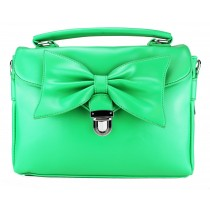 L1131 - Miss Lulu Bow Envelope Handbag Green